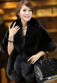 Women's Fur Wraps for Wedding Faux Stole Shrug Winter Bridal Wedding Cover Up