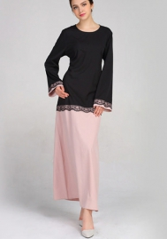 (Not Scarf) Women's Long Sleeve Muslim Long Dress