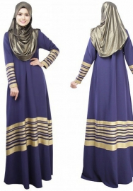 (Not Scarf)Women's Long Sleeve Islamic Muslim Fashion Maxi Dresses