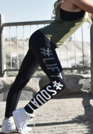 Women fashion Black sport leggings