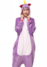 (Not Shoes)Unisex Adult Animal Cosplay Onesie Flannel One Piece Pajamas Sleepwear