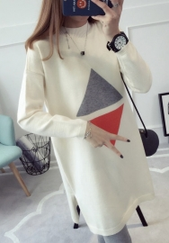 Women's Long Sleeve Sweater Knit Dress Solid Elastic Slim Bodycon Pencil Midi Dress