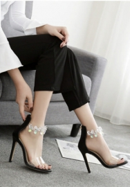 Womens high-heel thin pointed mouth Crystal drill lady shoes