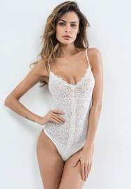 Women Teddy Lingerie Hollow Strappy Lace Bodysuit
