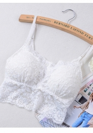 Women Sexy Lace Bralette Cage Tube Top Bandeau Bra Tanks Crop Tops