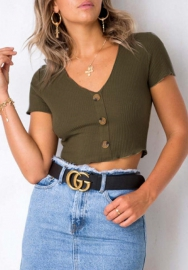 Women's Crop Short-Sleeve Top