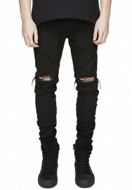 (Only Pant) en's Ripped Slim Straight Fit Biker Jeans