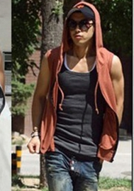 Men's Sleeveless Hoodie Gym Tank Top