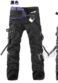 (Not Belt)Men's Wild Cargo Pants Relaxed Fit Multi-Pockets Ripstop Combat Army Trousers