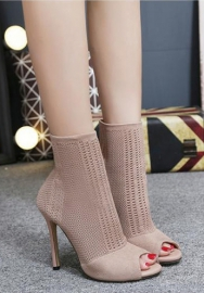 Women Sexy Strappy Platform High Heels Caged Bootie Pumps Hollow-Out Ballroom Sandals Shoes