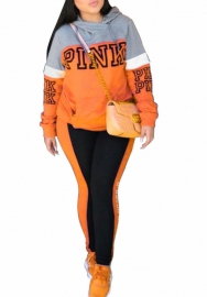 Women fashion orange two pieces set