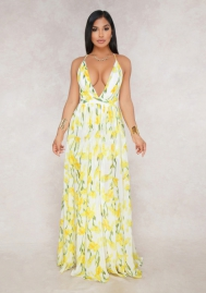 Women fashion Yellow dress
