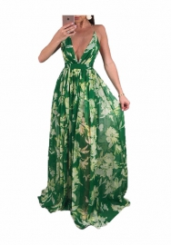 Women fashion green dress