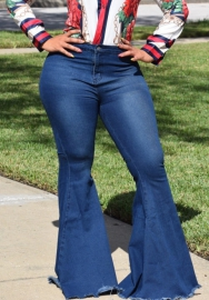 (Only Jeans,Not Top) Women's Classic High Waist FLARE & SKINNY Denim Jeans Bell Bottoms