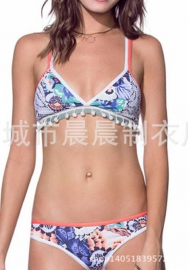Womens Lace up Bikini Set Halter Neck Two Piece Swimsuit Bathing Suits