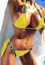 Women's Sexy Diamond Cut Out Bikini Set