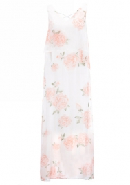 Women Floral Maxi Dress Split Beach Flowy Party Dresses