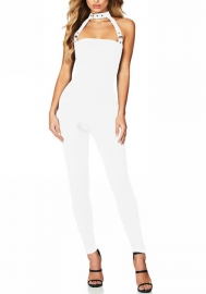Womens Halter Casual Bandage Bodysuit Long Jumpsuit