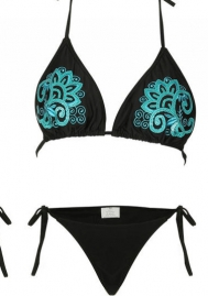 Women Sparkle Glitter Push-up Bra Bandage Bikini Set Swimsuit Triangle Swimwear Bathing Suit