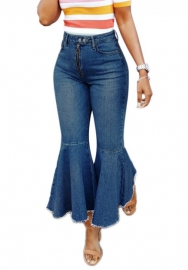 Women's High Rise Denim Chic Stretch Wide Leg Flare Jean Pants