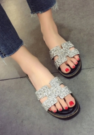 Women's Slippers, Africa Flip-Flop Beach Wedge Sequin Sandal Strap Platform Thongs Sandals Shoes