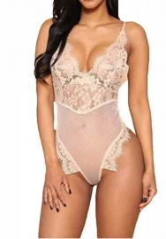 Women's Sexy Lace Babydoll Lingerie One Piece Teddy Bodysuit