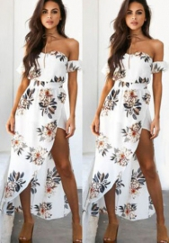 Women's Sleeveless Summer Casual Swing Sundress Flare Floral Tank Dress
