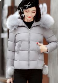 Women's  Faux Fur Hood Winter Coat Down Jackets