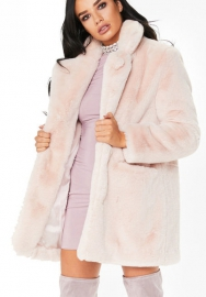Womens Winter Warm Colorful Faux Fur Coat Chic Jacket Cardigan Outerwear Tops for Party Club Cocktail