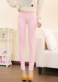 Women Skinny Jeans Slim Fit Pants Pull-on Jeans