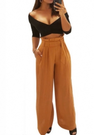 Women pants Commuter temperament Wide leg pants