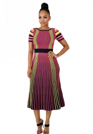 Women's fashion stripe dress