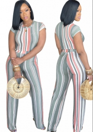 Women's 2 Piece Outfits Stripe casual set