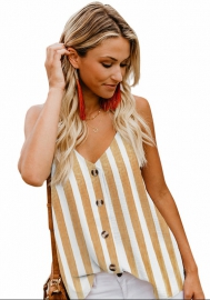 Women's stripe top loose vest four colors