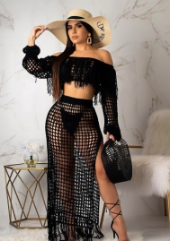 Women's fashion net sexy two piece set Summer two pc set