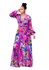 Women's Chiffon digital print maxi dress