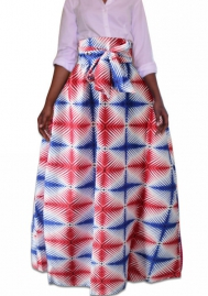 Women's skirt African national style  Big-hi suit totem print