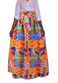 Women's skirt Women's skirt African national style  Big-hi suit totem print