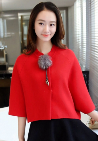 Women Long Sleeve Knit Cut Out Top Cold Sweater Blouse