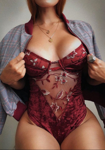 Women's Classic embroidery lingerie